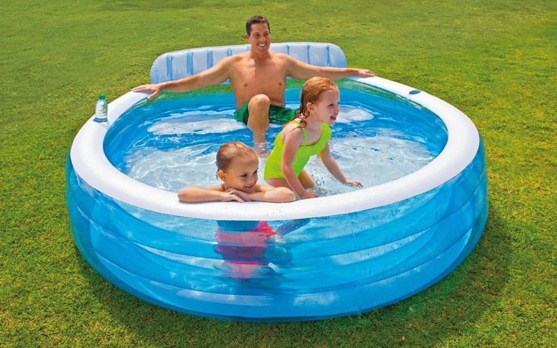 ubicación piscina hinchable