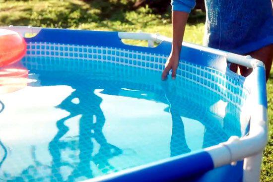 piscina desmontable limpia